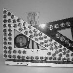 Quadro de formatura da primeira turma do curso de Agrimensura, confeccionado pelo servidor Antonio Prazeres – 1968.