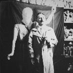 Artista e folclorista catarinense Franklin Joaquim Cascaes, professor da Escola Industrial de Florianópolis de 1941 a 1970. Foto da década de 1940.