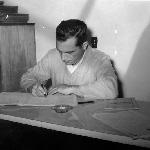 Professor da Escola Industrial de Florianópolis, René Abreu Pacheco – década de 1950.