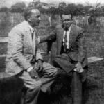 Professores Pedro Medeiros e Antonio Pereira Gutierrez – Escola Industrial de Florianópolis – década de 1940.